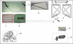 Frame - Vdb Components - Aprilia - LH water cooler protection Alu