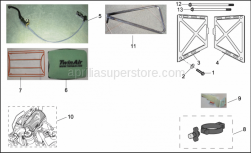 Frame - Vdb Components - Aprilia - RH water cooler protection Alu