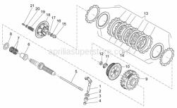 Engine - Clutch I - Aprilia - Clutch relese shaft