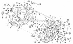 Engine - Crankcase I - Aprilia - Bearing half-shell, green