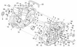 Engine - Crankcase I - Aprilia - Screw w/ flange M7X1X42