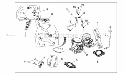 Engine - Throttle Body - Aprilia - Choke cable