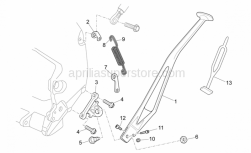 Frame - Central Stand - Aprilia - Lateral stand plate