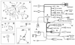 Frame - Electrical System I - Aprilia - Hex socket screw M4x20