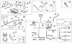 Frame - Electrical System Ii - Aprilia - Starter motor wiring harness