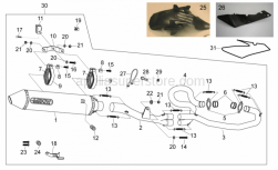 Frame - Exhaust Unit Ii - Aprilia - Screw w/ flange M8x40