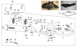 Frame - Exhaust Unit Ii - Aprilia - Screw w/ flange