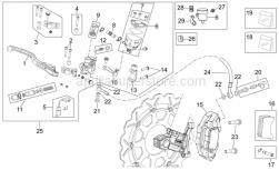 Frame - Front Brake System Ii - Aprilia - Brake fluid line