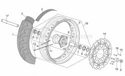 Frame - Front Wheel Ii - Aprilia - Front wheel spindle L=221,5