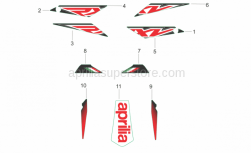 Frame - Rear Body Decals - Aprilia - STICKER