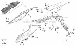 Frame - Rear Body I - Aprilia - Rear mudguard