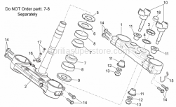 Frame - Steering I - Aprilia - Ring nut
