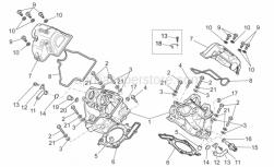 OEM Engine Parts Schematics - Cylinder Head - Aprilia - Screw w/ flange M6x12