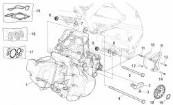 OEM Engine Parts Schematics - Engine - Aprilia - Sprocket cover