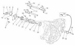 OEM Engine Parts Schematics - Gear Box Selector II - Aprilia - Roller D4