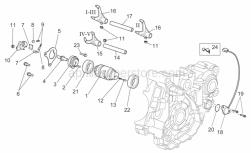 Engine - Gear Box Selector Ii - Aprilia - Screw w/ flange M5x12