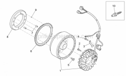 OEM Engine Parts Schematics - Ignition Unit - Aprilia - Screw w/ flange M5x12