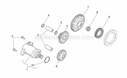 OEM Engine Parts Schematics - Starter Motor - Aprilia - Intermediate gear Z=22