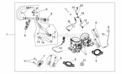 OEM Engine Parts Schematics - Throttle Body - Aprilia - Black hose 98x2*