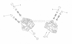 OEM Engine Parts Schematics - Valves Pads - Aprilia - Pad SP.2,425