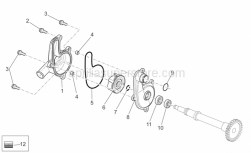 OEM Engine Parts Schematics - Water Pump - Aprilia - Screw w/ flange