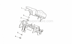 OEM Frame Parts Schematics - Dashboard - Aprilia - Rubber spacer *