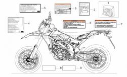OEM Frame Parts Schematics - Decal - Aprilia - Shock absorber decal