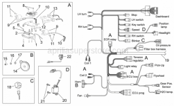 OEM Frame Parts Schematics - Electrical System I - Aprilia - Rubber spacer *