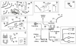 OEM Frame Parts Schematics - Electrical System II - Aprilia - Screw w/ flange M6x12