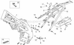 OEM Frame Parts Schematics - Frame - Aprilia - Screw w/ flange