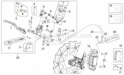 OEM Frame Parts Schematics - Front Brake System I - Aprilia - Front brake caliper