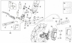 OEM Frame Parts Schematics - Front Brake System I - Aprilia - Screw w/ flange M10x1,25x40