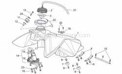 OEM Frame Parts Schematics - Fuel Tank - Aprilia - Screw w/ flange