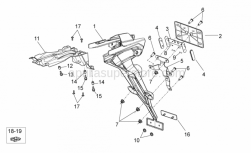OEM Frame Parts Schematics - Rear Body II - Aprilia - Number plate support