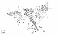 OEM Frame Parts Schematics - Rear Body II - Aprilia - Reflector support