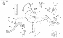 OEM Frame Parts Schematics - Rear Brake System - Aprilia - Rear brake lever pin