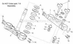 OEM Frame Parts Schematics - Steering - Aprilia - Low self-locking nut M10x1,25