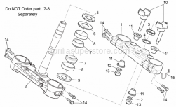 OEM Frame Parts Schematics - Steering - Aprilia - Screw w/ flange M8x40