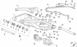 OEM Frame Parts Schematics - Swing Arm - Aprilia - Self-tapping screw