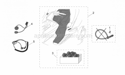 Genuine Aprilia Accessories - Acc. - Various - Aprilia - Leg cover Velcro support kit