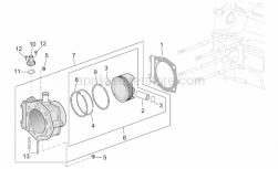 Engine - Cylinder - Aprilia - Screw w/ flange m6x1 (8