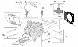 Engine - Cylinder Head - Aprilia - Cylinder head assy.