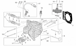 Engine - Cylinder Head - Aprilia - Screw w/ flange m6