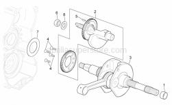 Engine - Drive Shaft - Aprilia - Low nut