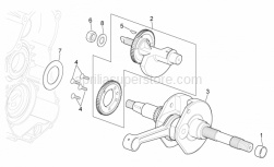Engine - Drive Shaft - Aprilia - Thrust washer