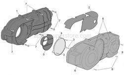 Engine - Engine Plastic - Aprilia - Acoustic insulation panel
