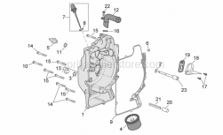 Engine - Flywheel Cover - Aprilia - Oil breather pipe