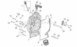 Engine - Flywheel Cover - Aprilia - drive shaft for water pump