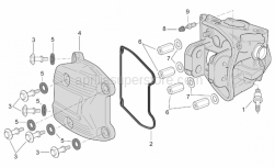 Engine - Head Cover (Ext.Thermostat) - Aprilia - Screw w/ flange M6x30