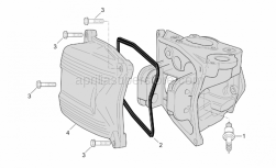 Engine - Head Cover (Int. Thermostat) - Aprilia - Screw w/ flange M6x3